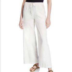 Wide leg max studio linen pants size small
